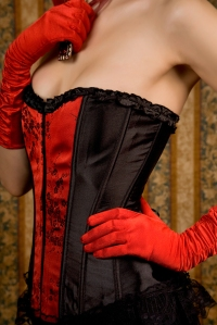 Close-up Of Slim Woman In Red Corset